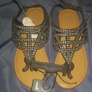 Black sandals *NEW* Size 1